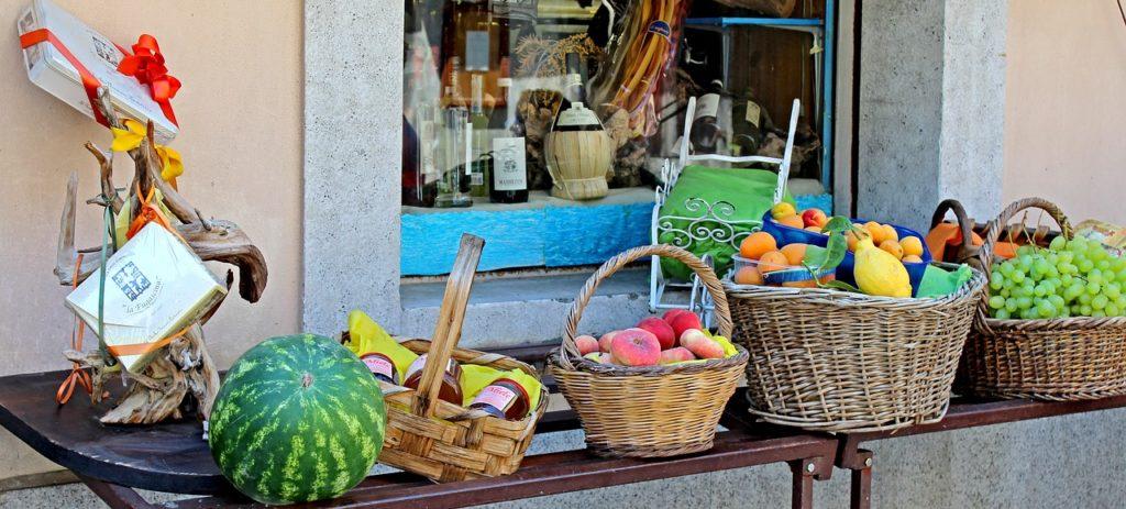 fruit stand, market, food